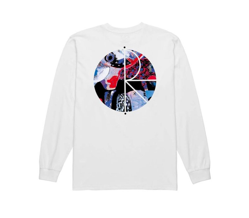 Polar Orchid Fill Logo LS White