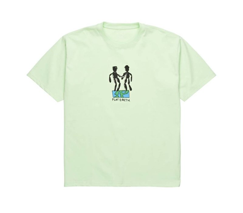 Polar Flat Earth Tee Pastel Green