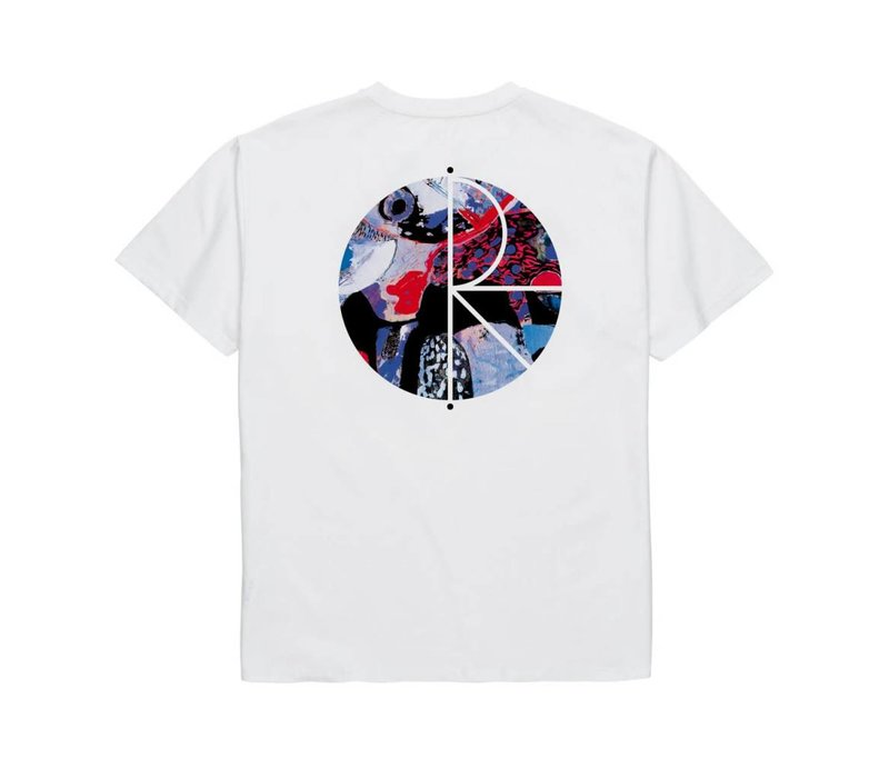 Polar Orchid Fill Logo Tee White