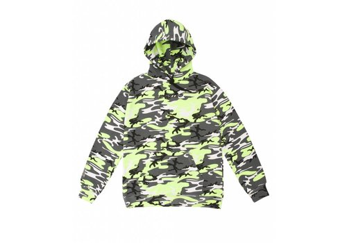 Wasted Paris Wasted Camo Hoodie Neon Yellow/Grey