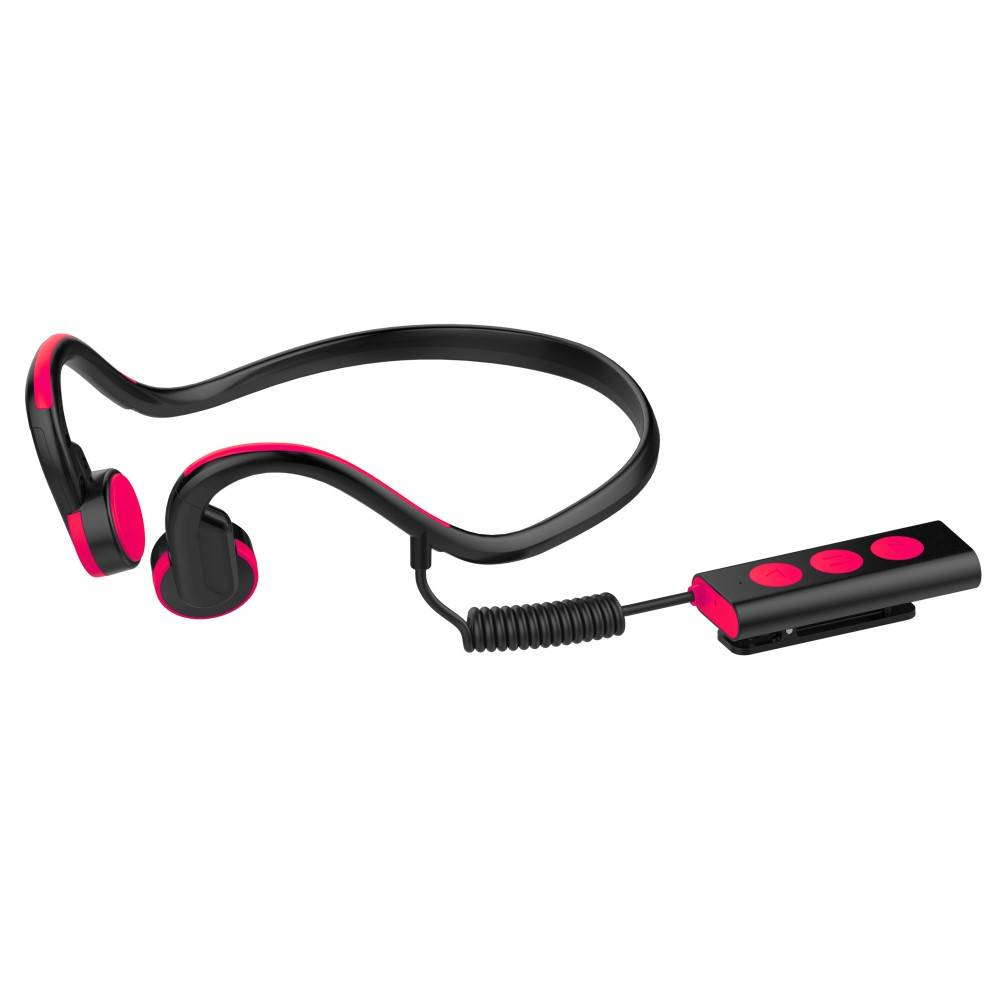 Waterproof Bone Conduction Bluetooth Oortjes - Rood