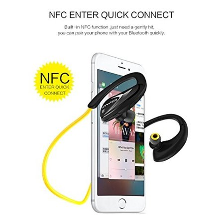 AWEI AWEI Voice Prompt NFC Pairing Bluetooth Sport Oortjes - Geel