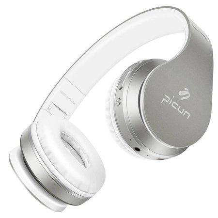 PICUN PICUN P16 Mega Bass Bluetooth Koptelefoon - Zilver + Wit