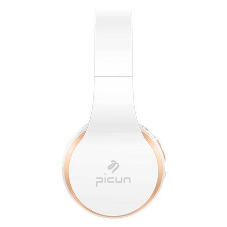 PICUN PICUN P16 Mega Bass Bluetooth Koptelefoon - Goud + Wit