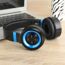 P6 Inklapbare Megabass Bluetooth Koptelefoon- Zwart + Blauw
