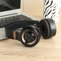 P6 Inklapbare Megabass Bluetooth Koptelefoon - Zwart + Brons