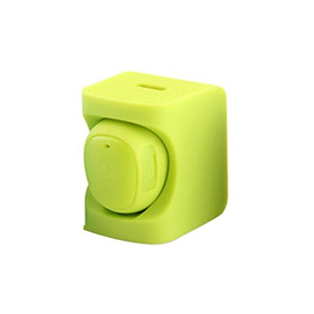 C1 Mini Bluetooth Oortje met Auto Oplader Holder - Groen