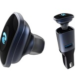 BC16 2-in-1 Mini Bluetooth 4.0 Oortje + USB Auto Oplader