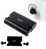 X2T Bluetooth V4.2 Oortjes met Oplaaddock - Zwart