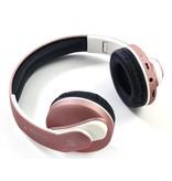 JKR-218B Ultra Bass Bluetooth 4.0 Koptelefoon - Rosé Goud