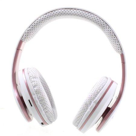 JKR-211B Bluetooth Over-ear Koptelefoon - Wit / Rosé Goud