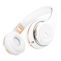 BT-09 Bluetooth Over-ear Hoofdtelefoon - Wit / Goud