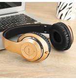 PICUN PICUN BT-09 Bluetooth Over-ear Hoofdtelefoon - Goud / Zwart