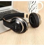 PICUN PICUN BT-09 Bluetooth Over-ear Hoofdtelefoon - Zwart / Goud