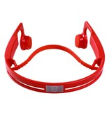 Bluetooth Oordopjes met Bone Conduction - Rood