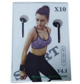 X10 Sport Bluetooth 4.1 Earbuds - Wit