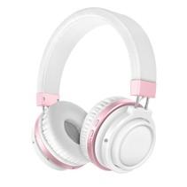 Bluetooth On-ear Koptelefoon - Wit / Roze