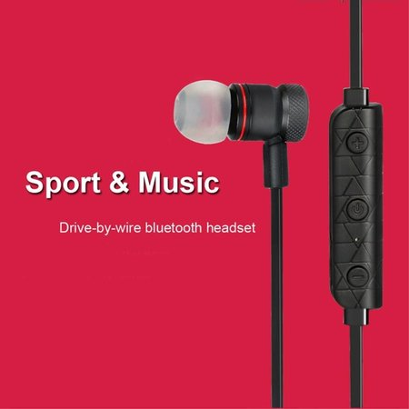 Vbit Vbit M9 Metalen Sport Bluetooth 4.1 In-ear Earphone - Zwart