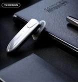 YK K4 Draadloze In-ear Headset - Zilver