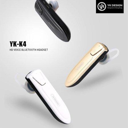 YK K4 Draadloze In-ear Headset - Zwart
