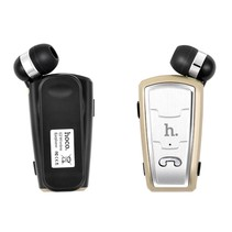 Kraag Clip-on Bluetooth Oortje - Goud
