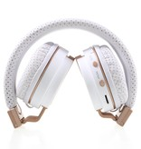 JKR-209B Bluetooth Over-ear Koptelefoon - Wit / Goud