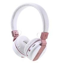 JKR-209B Bluetooth Over-ear Koptelefoon - Wit / Rosé Goud