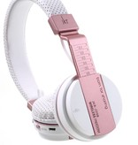 JKR-209B Bluetooth Over-ear Koptelefoon - Wit / Rosé Goud