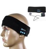 Fleece Bluetooth Hoofdband met Built-in Oortjes - Zwart