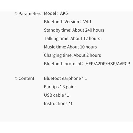 AWEI AWEI AK5 Intelligent Control Bluetooth Headset - Grijs
