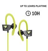 VEGGIEG VEGGIEG V8 Bluetooth Sport Headphones - Groen