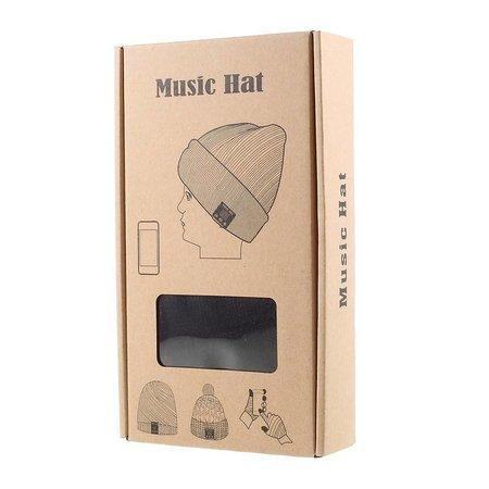Gebreide Muts met Built-in Bluetooth Headphones - Zwart