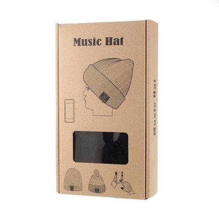 Gebreide Muts met Built-in Bluetooth Headset - Zwart