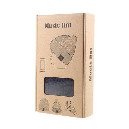 Gebreide Muts met Built-in Bluetooth Headphones - Donkerblauw