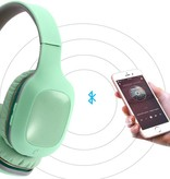 Opvouwbare Over-Ear Bluetooth Koptelefoon - Cyaan