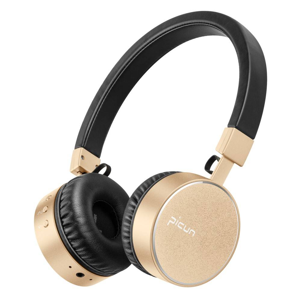 PICUN PICUN P10 Bluetooth On-Ear Koptelefoon - Zwart / Goud