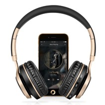 BT08 Over-ear Bluetooth Koptelefoon - Zwart / Goud