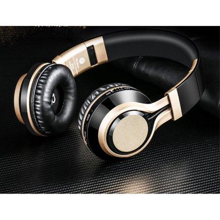 PICUN PICUN BT08 Over-ear Bluetooth Koptelefoon - Zwart / Goud