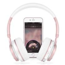 BT08 Over-ear Bluetooth Koptelefoon - Wit / Rosé Goud