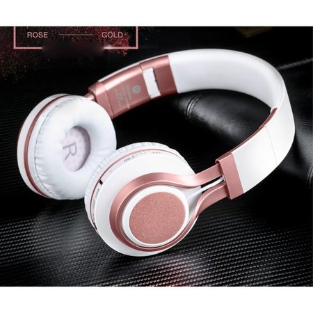PICUN PICUN BT08 Over-ear Bluetooth Koptelefoon - Wit / Rosé Goud