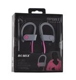 ROMIX ROMIX Sport Bluetooth 4.1 In-Ear Oordopjes - Grijs / Roze