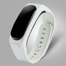 2-In-1 OLED Smart Polsband + Bluetooth Headset - Wit