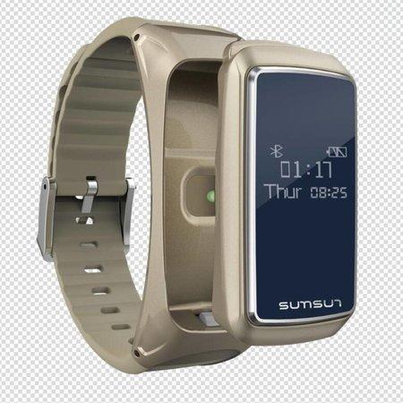 Sumsun Sumsun Smart Polsband + Bluetooth Headset (2-in-1) - Goud
