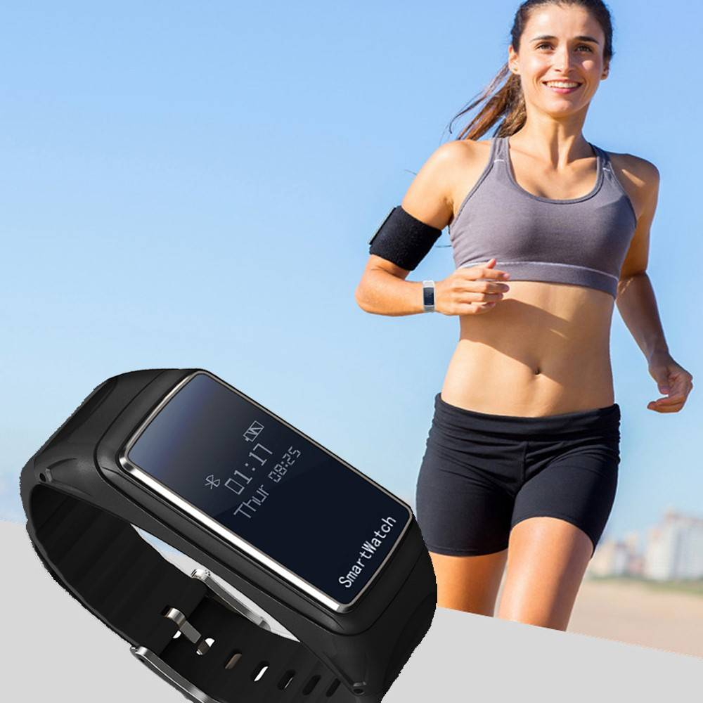 Sumsun Sumsun Smart Polsband + Bluetooth Headset (2-in-1) - Zwart