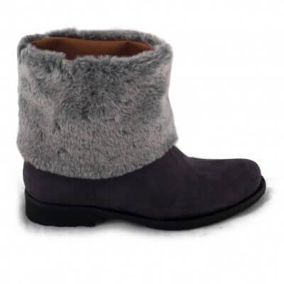 NAE vegan shoes Enkellaars Mira | Grey