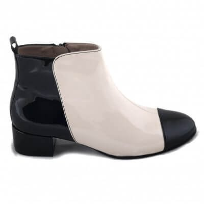 NAE vegan shoes Enkellaars Janeth White