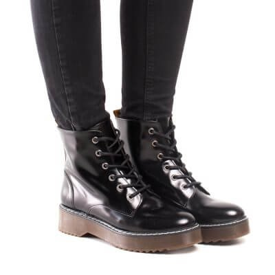 NAE vegan shoes Enkellaars Trina Black