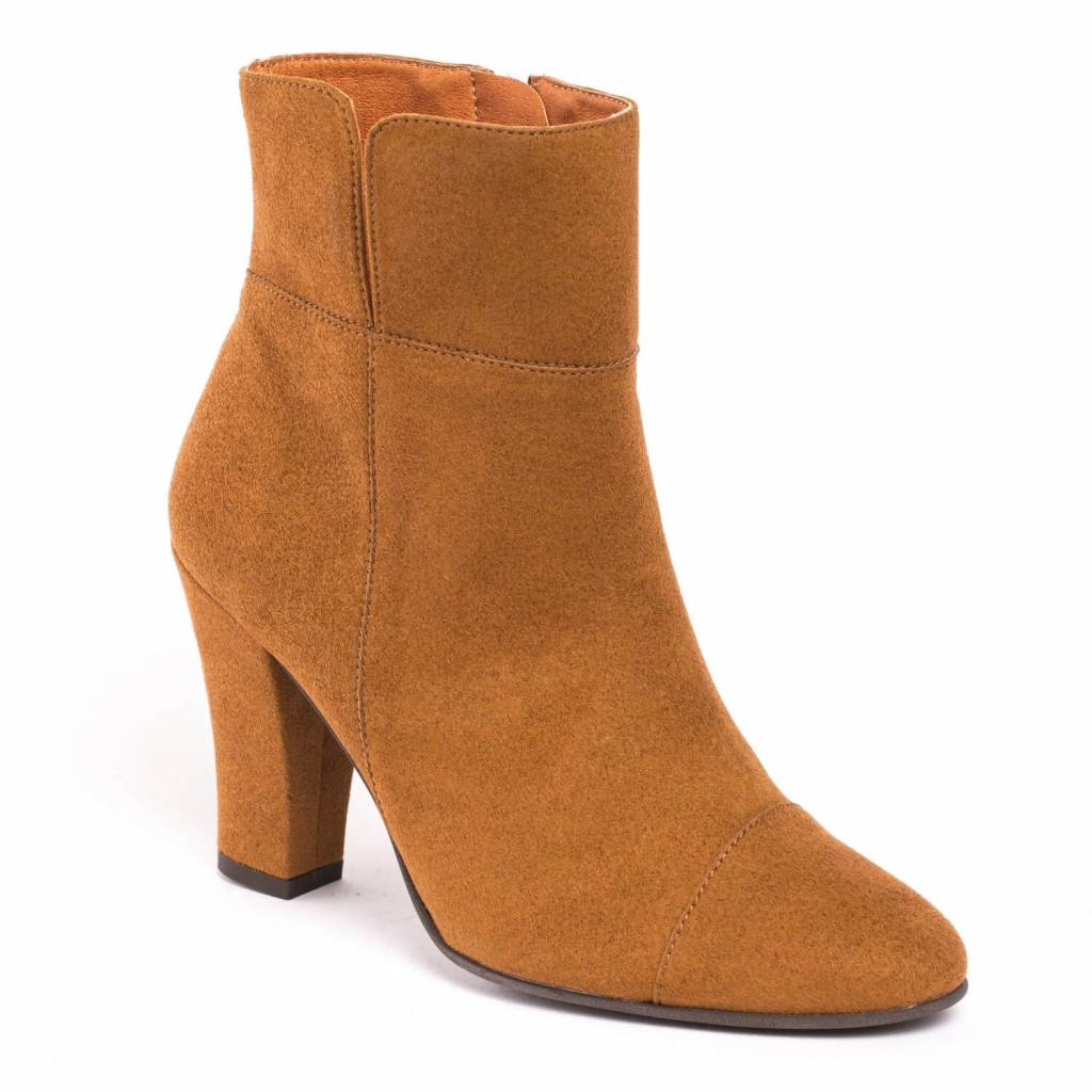 NAE vegan shoes Enkellaarjes Bline Brown