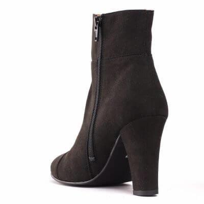 NAE vegan shoes Enkellaarjes Bline Black