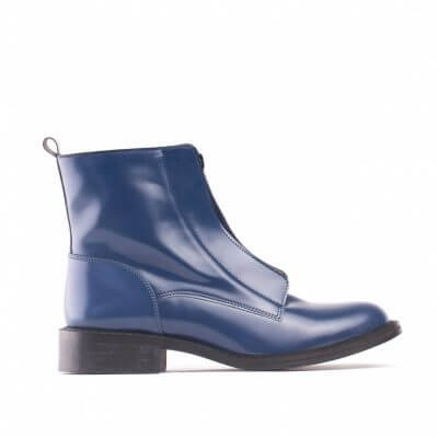 NAE vegan shoes Vegan Enkellaars ZipMe Blue